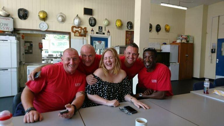 "<p>Adele-in the most humble and discrete way-brought cakes for the firefighters at Chelsea Fire Station in London. Ben Kling, the station manager, said, ""We opened the door to her and she took her sunglasses off and said, 'Hi, I'm Adele.'"" She simply wanted to have ""tea and a cuddle"" and to thank the firefighters for their bravery during the Grenfell Tower disaster. So freaking sweet. </p>"