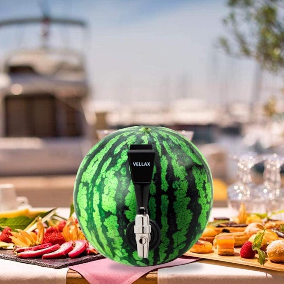 <p>Turn your fruit into a keg with the <span>Watermelon Tap Kit Beverage Dispenser - Fruit Keg Tapping Kit &amp; Coring Tool</span> ($14) It's a great way to make use of that giant watermelon for the summer. You can even use it on pumpkins during the fall.</p>