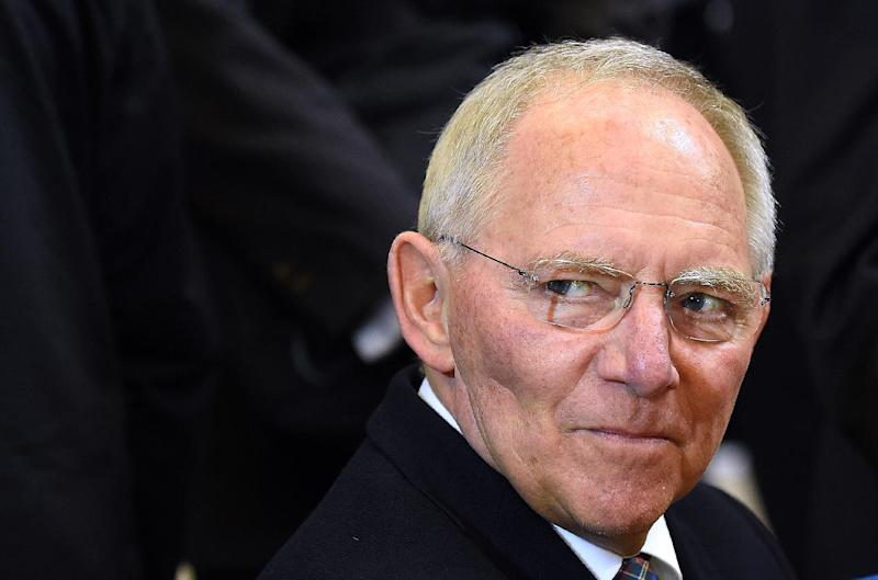 German Finance Minister Wolfgang Schauble arrives for an emergency Eurogroup finance ministers meeting at the European Council in Brussels on February 20, 2015 (AFP Photo/Emmanuel Dunand)