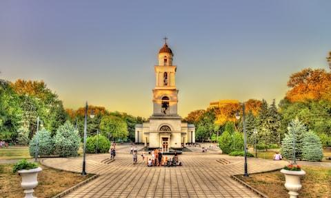 Bell tower of the Nativity Cathedral in Chisinau - Credit: GETTY