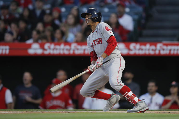 Mookie Betts is a big reason why the Red Sox are off to their best start in franchise history and own the No. 1 spot in Yahoo Sports MLB's Power Rankings. (AP)