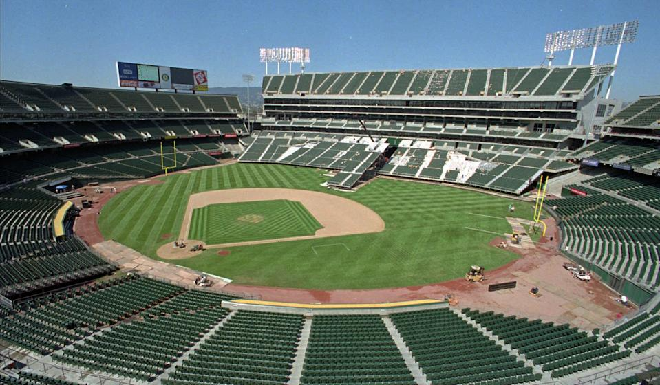 The A's are facing criticism that they're using the pandemic as an excuse to skip out on rent. (AP Photo/Ben Margot, File)
