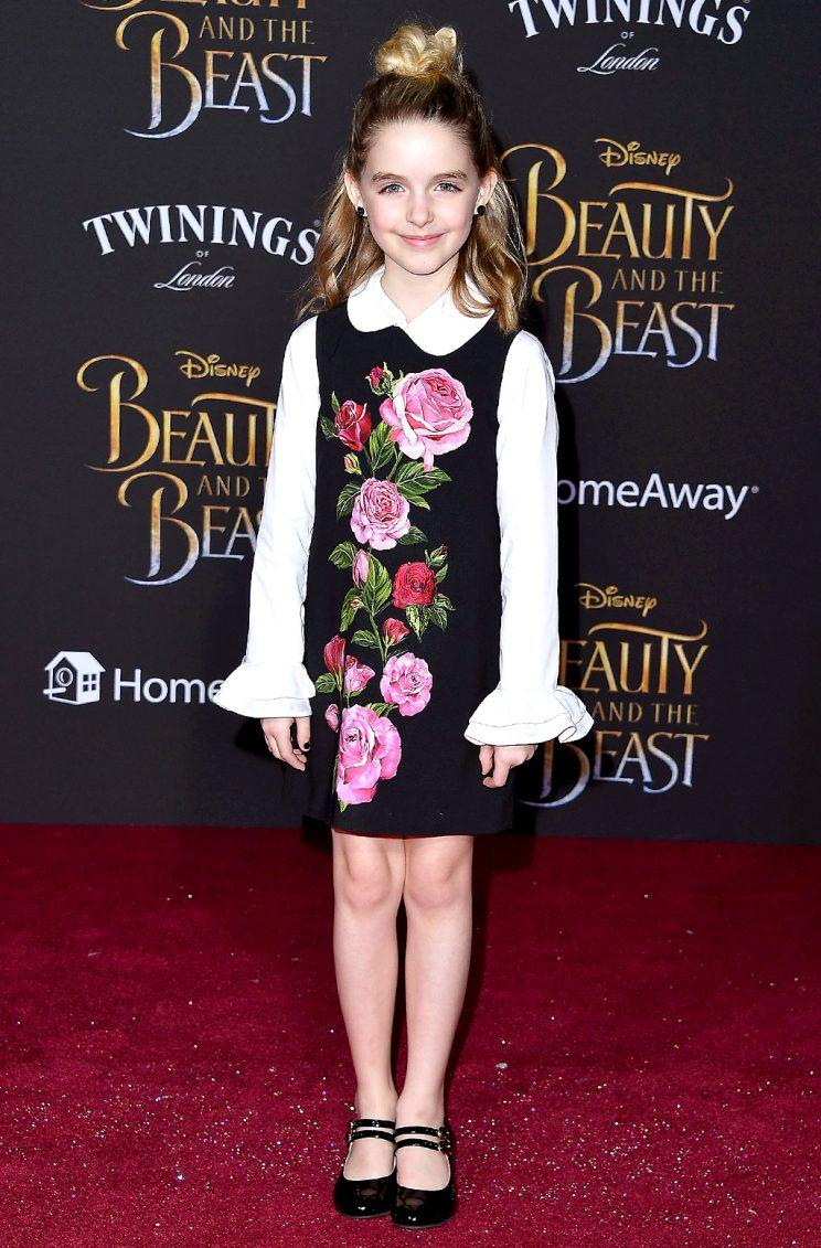 Mckenna Grace at the premiere of Beauty and the Beast.