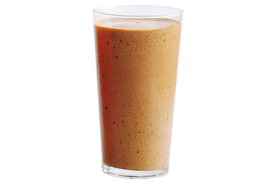 """This power-breakfast smoothie will be extra smooth if you soak the nuts and oats in water overnight; drain before proceeding. <a href=""""https://www.epicurious.com/recipes/food/views/banana-coffee-cashew-and-cocoa-smoothie?mbid=synd_yahoo_rss"""" rel=""""nofollow noopener"""" target=""""_blank"""" data-ylk=""""slk:See recipe."""" class=""""link rapid-noclick-resp"""">See recipe.</a>"""