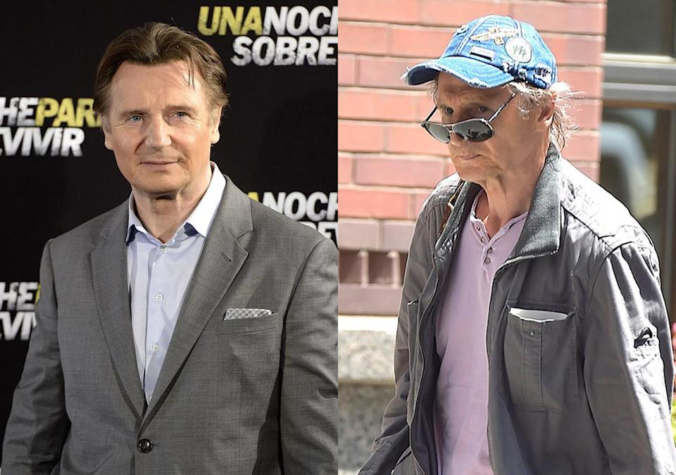 <p>People feared for the 63-year-old actor's health when he was papped looking like a shadow of his former burly self in New York, but it was all for a role in Martin Scorsese's upcoming 'Silence' in which the 'Taken' star plays a tortured Jesuit missionary in 17th century Japan.</p>
