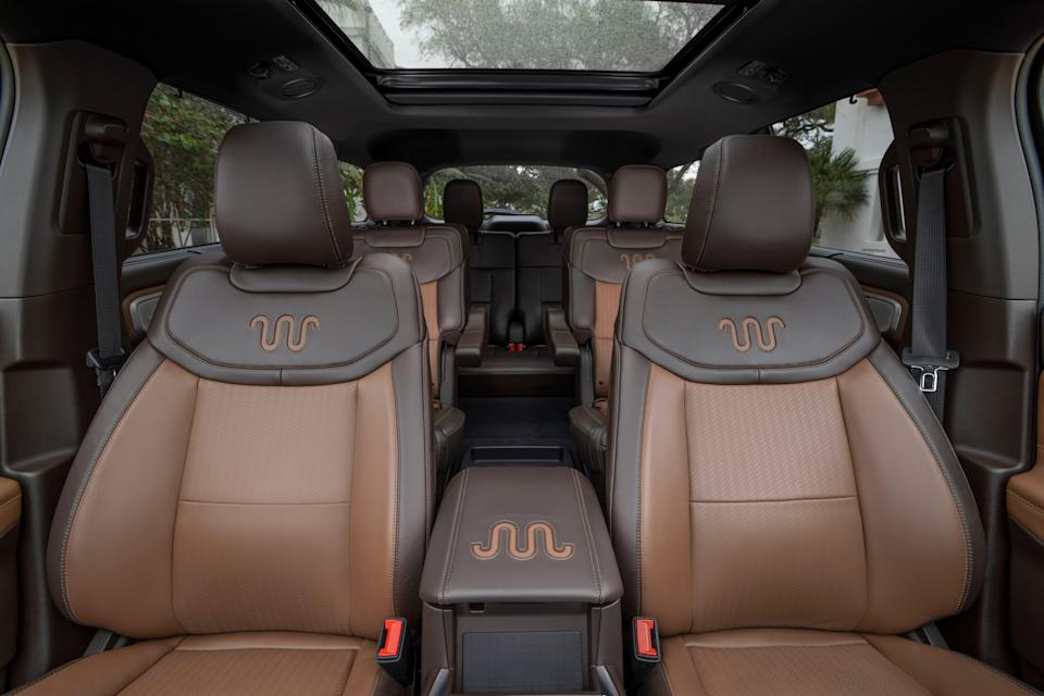Ford Motor Co. introduced the 2021 Ford Explorer King Ranch edition with luxury features on Wednesday, February 24, 2021. It includes mahogany-colored Del Rio leather-trimmed seats with perforated front and second rows with the King Ranch Running W logo.