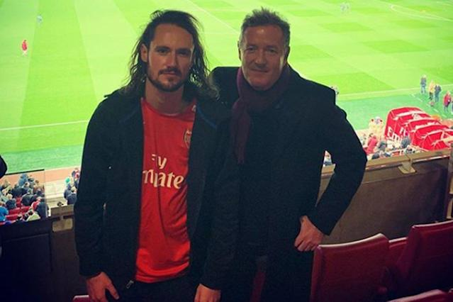 Not impressed: Spencer Morgan with his famous father Piers Morgan: Instagram/ Piers Morgan