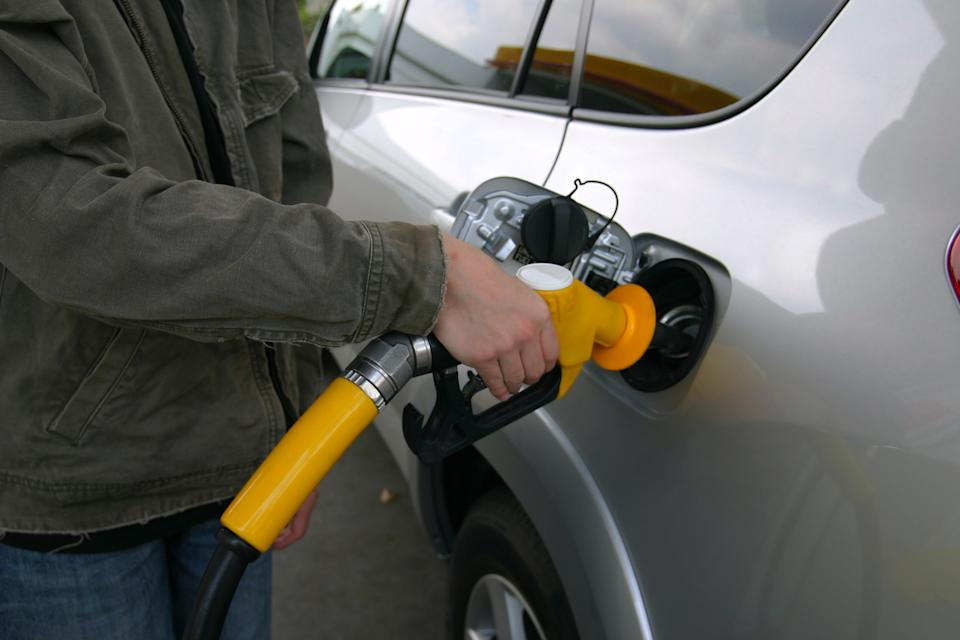 Filling Up with gas or petrol at the bowser