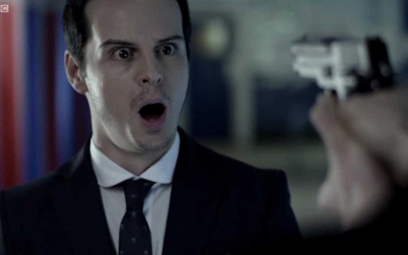 Andrew Scott as Moriarty in Sherlock