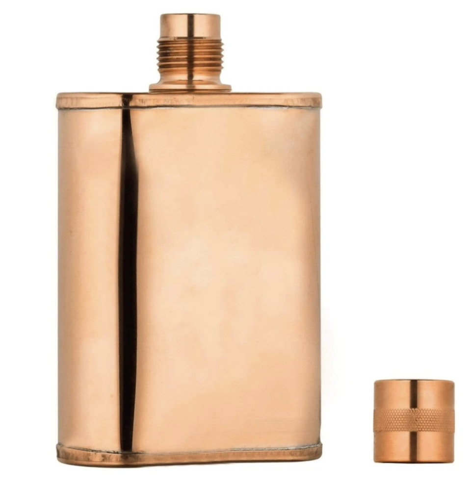"""<p>jacobbromwell.com</p><p><strong>$28.00</strong></p><p><a href=""""https://www.jacobbromwell.com/collections/copper-flasks/products/vermonter"""" rel=""""nofollow noopener"""" target=""""_blank"""" data-ylk=""""slk:Shop Now"""" class=""""link rapid-noclick-resp"""">Shop Now</a></p><p>Every man needs a flask, especially one as beautiful as this sleek copper design by <a href=""""https://www.jacobbromwell.com/"""" rel=""""nofollow noopener"""" target=""""_blank"""" data-ylk=""""slk:Jacob Bromwell"""" class=""""link rapid-noclick-resp"""">Jacob Bromwell</a>. Each flask is hand forged using traditional techniques the company has used since 1819.</p><p>If the man in your life already has a traditional flask, don't fret. They have slimmer travel versions like the <a href=""""https://www.jacobbromwell.com/collections/copper-flasks/products/vermonter-mini"""" rel=""""nofollow noopener"""" target=""""_blank"""" data-ylk=""""slk:Vermonter Mini"""" class=""""link rapid-noclick-resp"""">Vermonter Mini</a> and <a href=""""https://www.jacobbromwell.com/collections/artisan-copper-flasks"""" rel=""""nofollow noopener"""" target=""""_blank"""" data-ylk=""""slk:artist limited edition flasks"""" class=""""link rapid-noclick-resp"""">artist limited edition flasks</a> for the collector.</p>"""