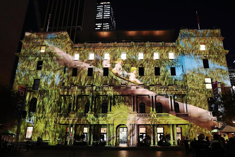 <em>Snugglepot and Cuddlepie</em> will be projected on Customs House each night during the Vivid festival. Source: Getty