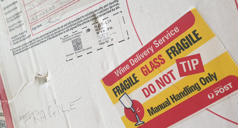 A package which was damaged by Auspost.