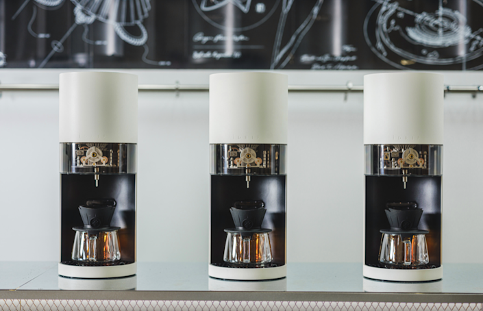Close-up view of iDrip's new Smart Pour-Over Coffeemaker.