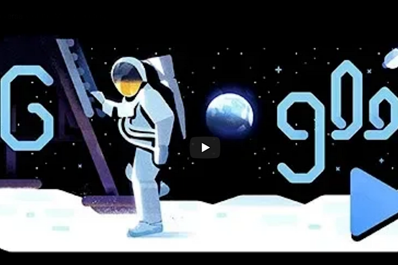 Google Doodle Takes You on Journey to the Moon and Back