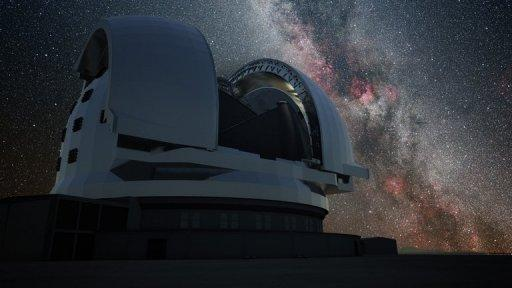 An artist's impression released by the European Southern Observatory (ESO) on June 11, 2012 shows the European Extremely Large Telescope (E-ELT) in Chile's Atacama Desert. Astronomers in Chile using a powerful telescope have observed what appears to be evidence of the existence of dark galaxies, the European Southern Observatory (ESO) announced Wednesday