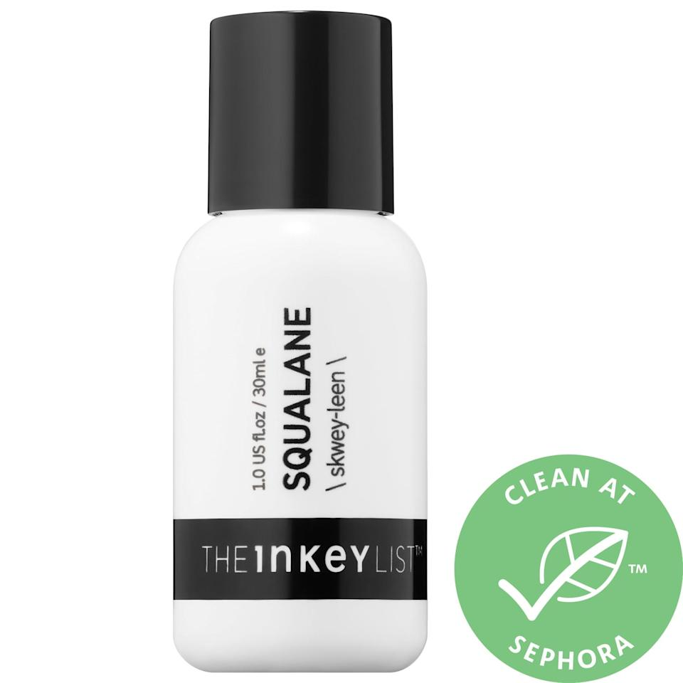 "<p>For anyone nervous about trying a facial oil, <a href=""https://www.popsugar.com/buy/Inkey-List-Squalane-Oil-582103?p_name=The%20Inkey%20List%20Squalane%20Oil&retailer=sephora.com&pid=582103&price=12&evar1=bella%3Aus&evar9=47550611&evar98=https%3A%2F%2Fwww.popsugar.com%2Fbeauty%2Fphoto-gallery%2F47550611%2Fimage%2F47550632%2FInkey-List-Squalane-Oil&list1=sephora%2Cthe%20inkey%20list&prop13=mobile&pdata=1"" class=""link rapid-noclick-resp"" rel=""nofollow noopener"" target=""_blank"" data-ylk=""slk:The Inkey List Squalane Oil"">The Inkey List Squalane Oil</a> ($12) is not only non-greasy, it actually helps with oil control while also moisturizing skin.</p>"