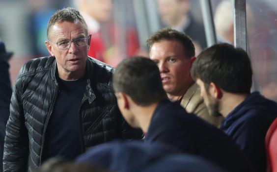Ralph Rangnick, head of sport and development at Red Bull, with Nagelsmann (AFP via Getty)