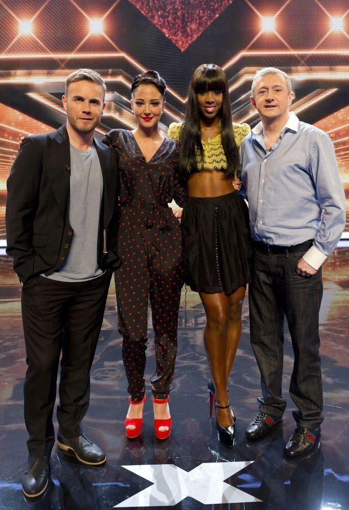 A mass exodus: Gary Barlow, Tulisa and Kelly Rowland join the only original remaining judge, Louis Walsh.