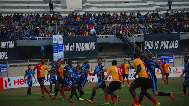 Minerva Punjab were taken to task by East Bengal, who put behind several troubled weeks with an imposing win..