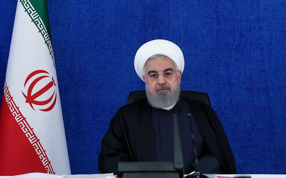 President Hassan Rouhani chairing a cabinet meeting in the capital Tehran - AFP