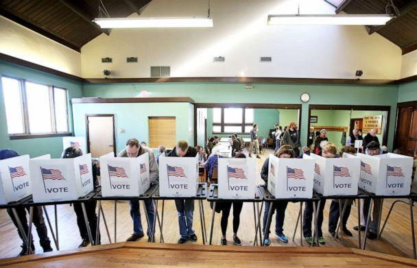 PHOTO: Voters cast their ballots at the Wil-Mar Neighborhood Center on the Near East Side of Madison, Wisconsin, Nov. 8, 2016. (Amber Arnold/Wisconsin State Journal via AP, FILE)