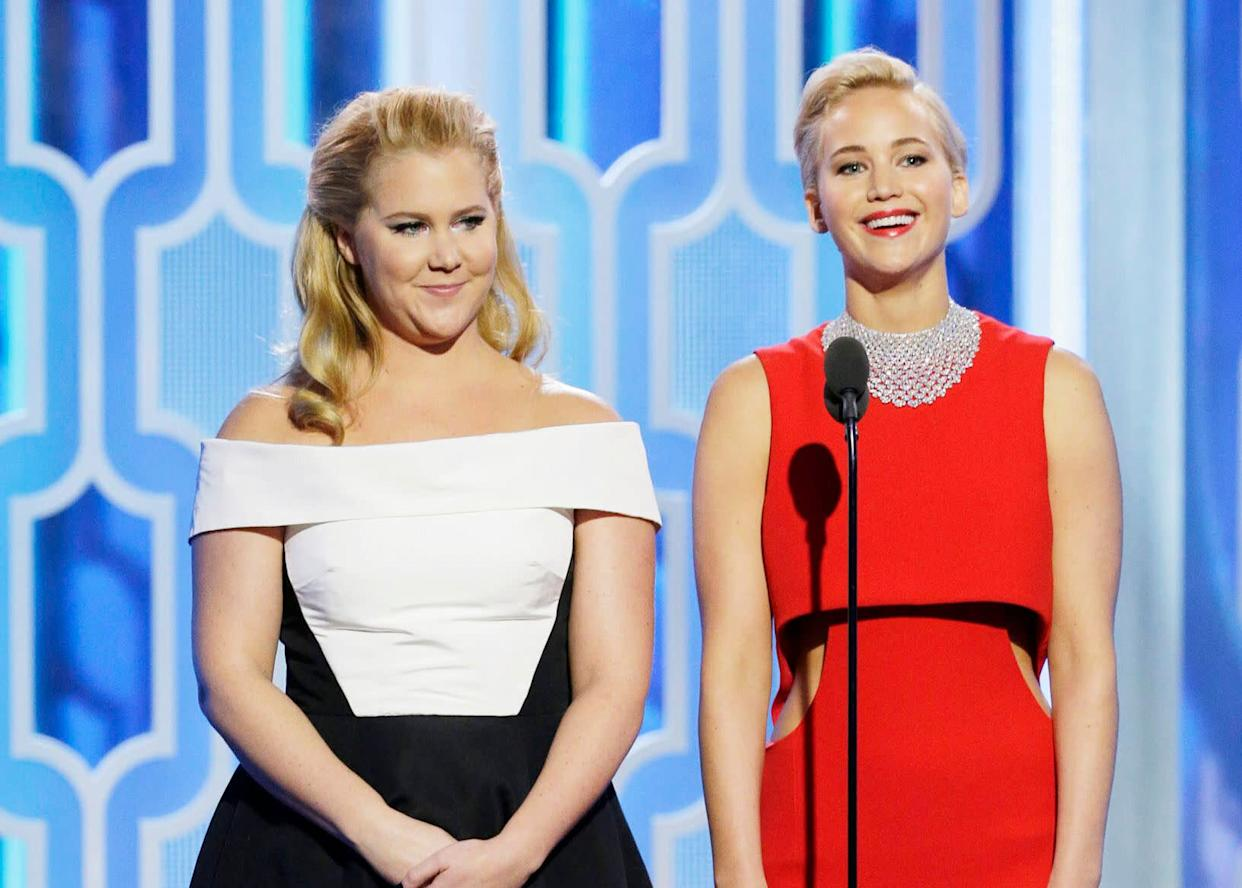 BFFs Amy Schumer and Jennifer Lawrence are going through changes since Schumer's baby was born. (Photo: Handout via Getty Images)