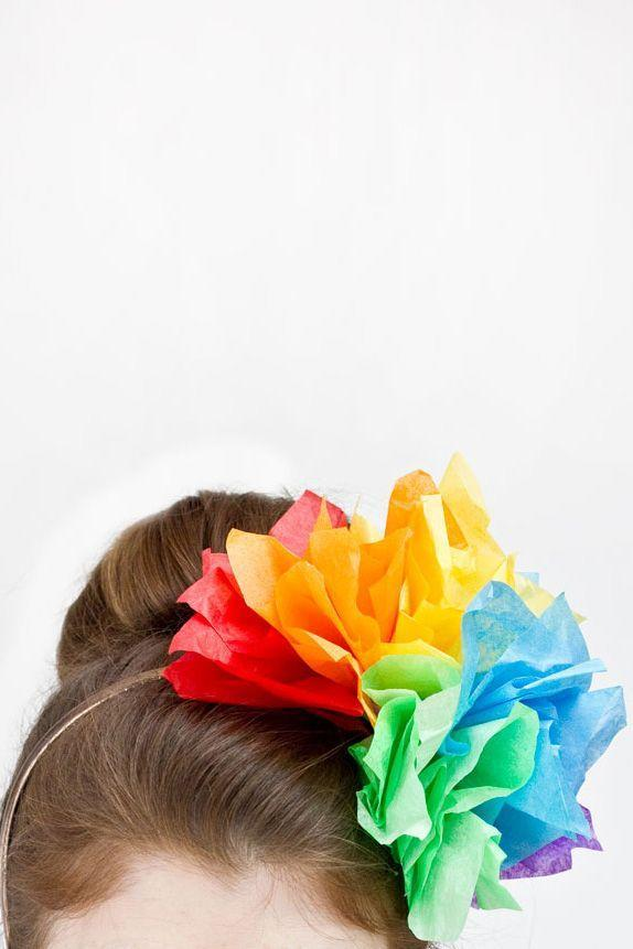 """<p>Try this colorful version for St. Patrick's Day, then consider more monochromatic palettes (pink and cream!) for other spring festivities. </p><p><em><a href=""""http://studiodiy.com/2013/03/04/diy-rainbow-fascinator/"""" rel=""""nofollow noopener"""" target=""""_blank"""" data-ylk=""""slk:Get the tutorial at Studio DIY »"""" class=""""link rapid-noclick-resp"""">Get the tutorial at Studio DIY »</a></em><br></p>"""