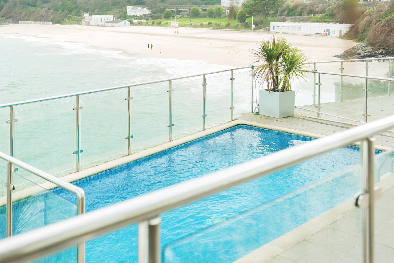 <p>Couched in the granite rocks of St Ives and offering great views of the bay below, a dip in this pool will give you the impression you're afloat. The Pedn Olva has 30 contemporary rooms, a rooftop terrace and views across the town. B&B doubles from £70 per night. <em>[Photo: Pedn Olva]</em> </p>
