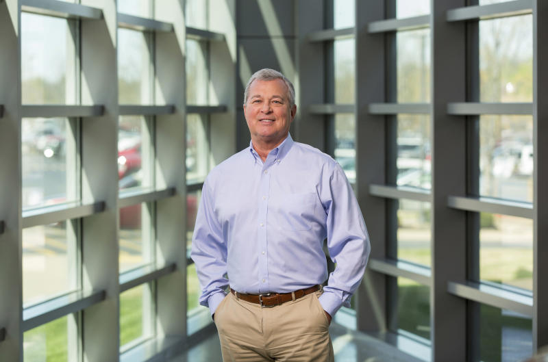 """This April 4, 2017, photo provided by Tyson Foods Inc., shows Tyson executive Noel White, in Springdale, Ark. Tyson Foods has announced its president and chief executive officer Tom Hayes will step down at the end of September for """"personal reasons."""" Tyson's board of directors said Monday, Sept. 17, 2018, that its group president of beef, pork and international divisions Noel White will succeed Hayes. (Beth Hall/Tyson Foods Inc. via AP)"""