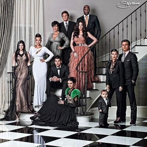 You want drama? Glamour? Welcome to the 2010 Kardashian family card. This was the first year to let each sister's individual style stand out, a nod at many fashion empires to come.