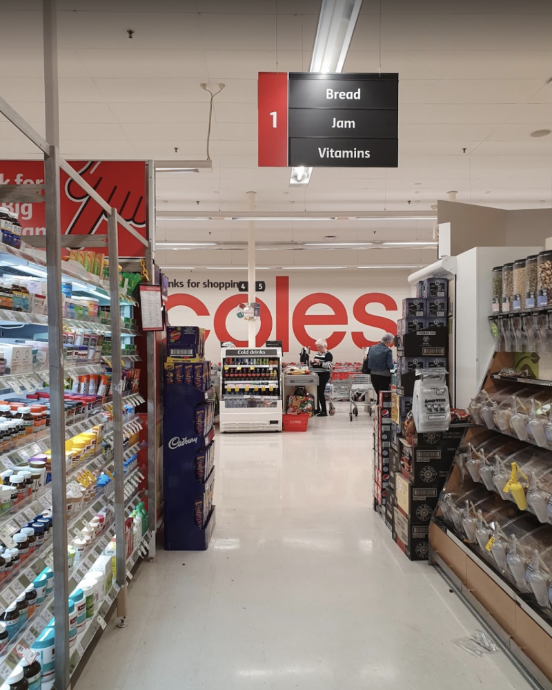 Coles and Woolworths stores have been left bare by panic buyers. Source: Google Maps/Matrix