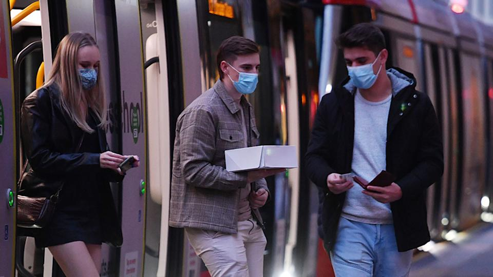Masks are now mandatory on public transport in Sydney. Source: AAP