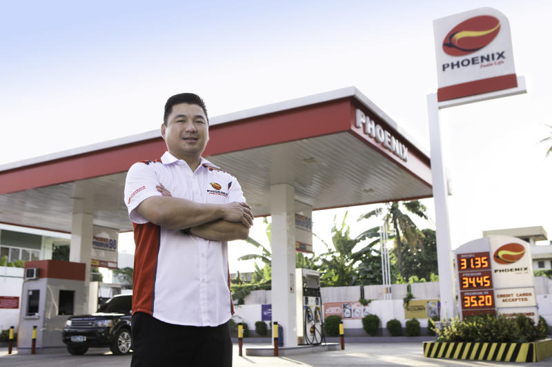 Dennis Uy founded a petroleum trading business in 2002, now the largest independent fuel retailer and the Philippines' third largest oil company, Phoenix Petroleum. (Source: Udenna)