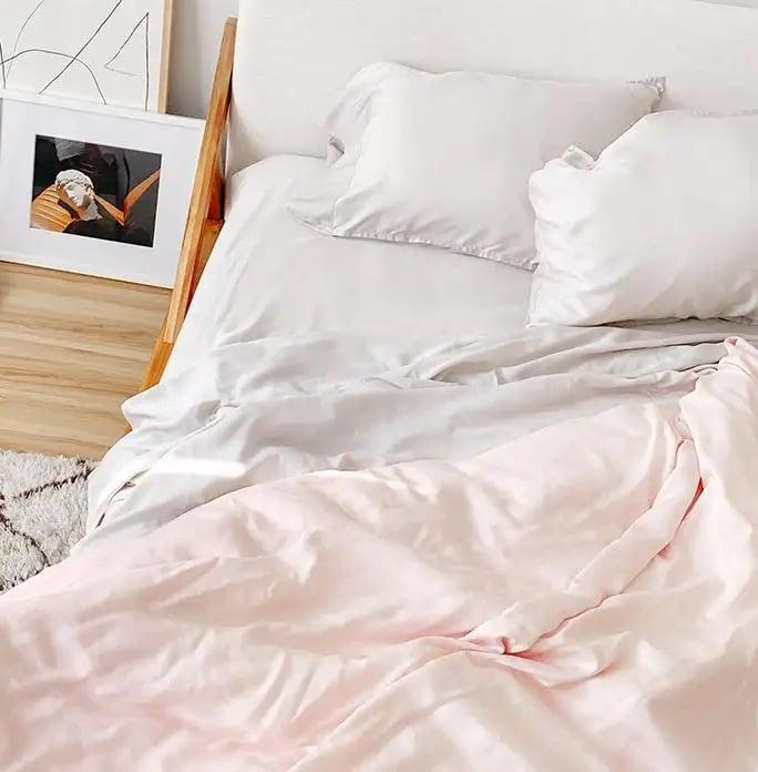 <p><span>Buffy Eucalyptus Sheet Set</span> ($169-$229, plus $20 off orders over $100 with code SEEYASUMMER20)</p>