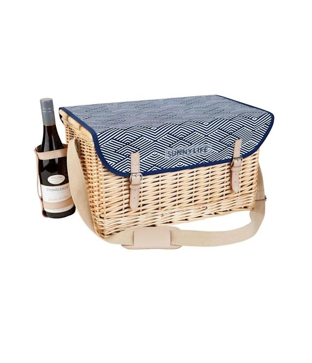 "<p>Basket Montauk, $140, <a href=""https://www.sunnylife.com/collections/picnic/products/deluxe-picnic-basket-montauk"" rel=""nofollow noopener"" target=""_blank"" data-ylk=""slk:sunnylife.com"" class=""link rapid-noclick-resp"">sunnylife.com</a> </p>"