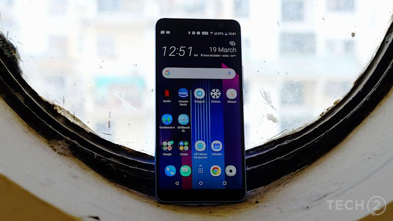 The display on the U11 Plus is quite bright. Too bad it's not an OLED. Image: tech2/Anirudh Regidi