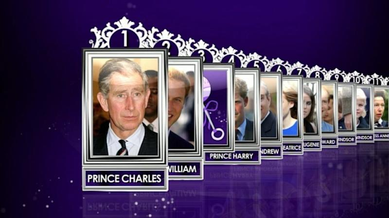 Royal Baby Cheat Sheet: His Path to the Throne