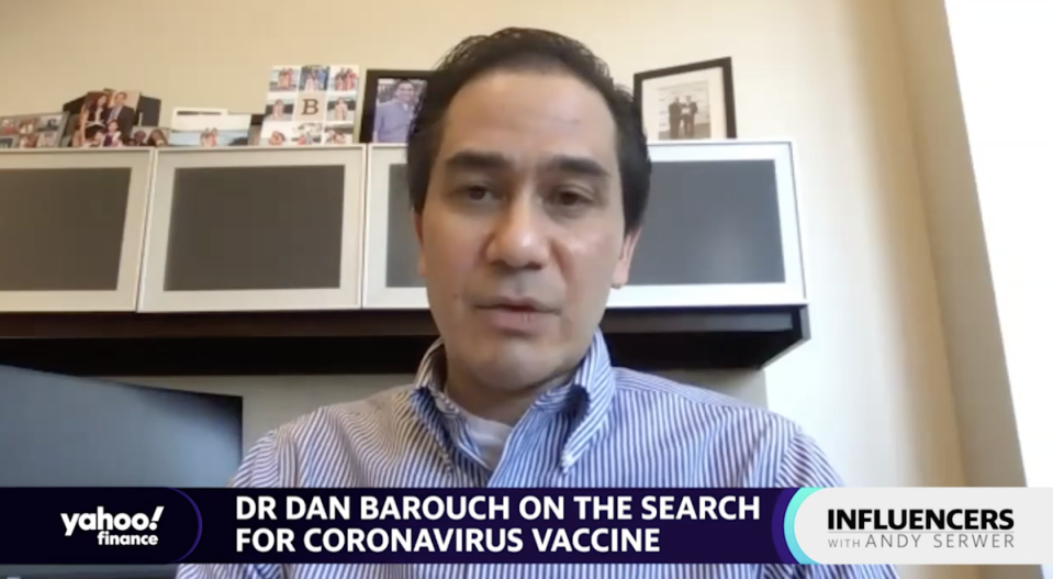 """Harvard University vaccine researcher Dr. Dan Barouch appears on """"Influencers with Andy Serwer."""""""