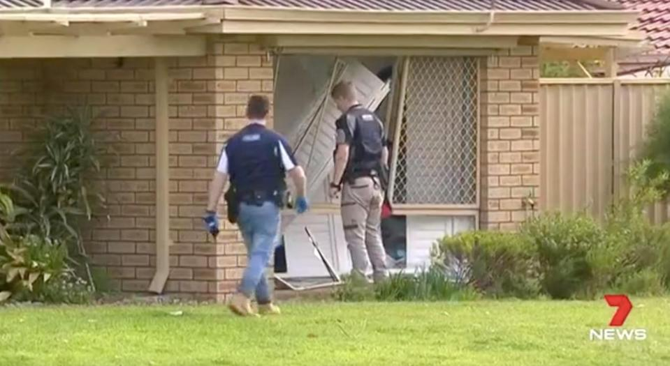 The 38-year-old allegedly smashed his ute into the war veteran's Rockingham house on Wednesday morning. Source: 7 News