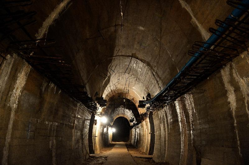 "View of the Nazi's ""Riese"" construction project under the Ksiaz castle in the area where a World War II gold train"" is supposedly hidden underground in Walbrzych, Poland (AFP Photo/Janek Skarzynski)"