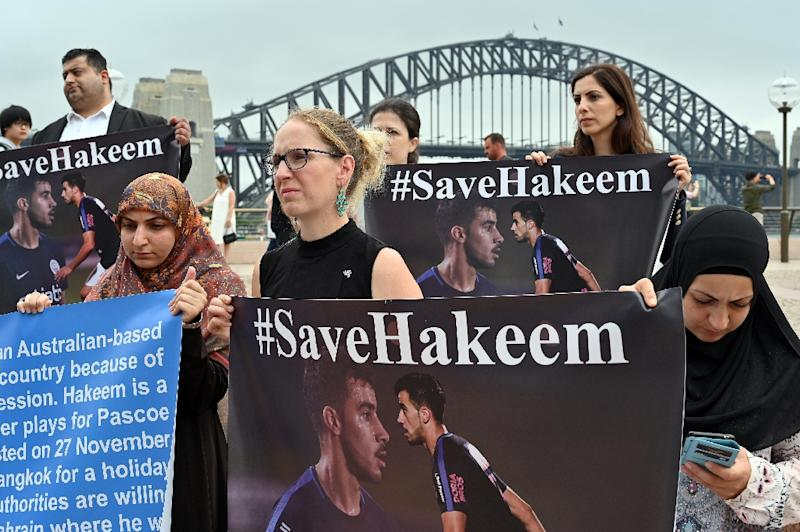 Activists in Australia are campaigning for the player's release. (AFP Photo/SAEED KHAN)