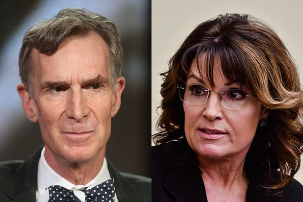 Sarah Palin Doesn't Think Bill Nye the Science Guy Is a Real Scientist