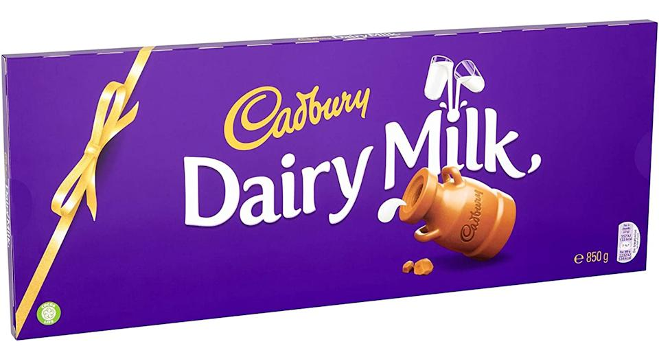 Cadbury Dairy Milk Giant Chocolate Bar, 850 g