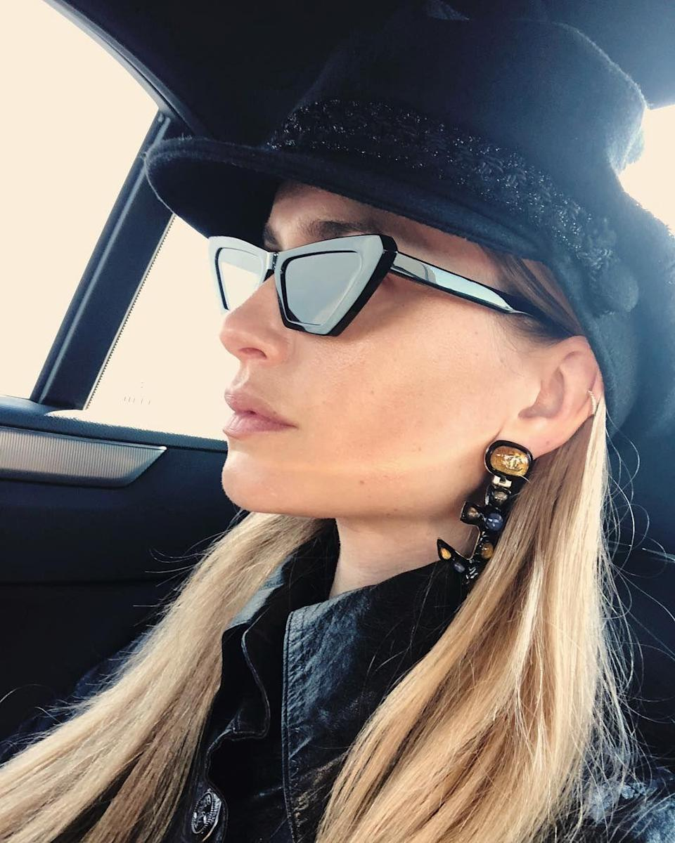 The Swedish sunglass brand has strong shapes and graphic patterns that make a statement.