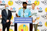 <p>Will.i.am and his i.am.angel foundation teams up with Los Angeles Unified School District Superintendent Austin Beutner and FIRST Robotics to launch Robotics clubs across over 400 local schools on June 23 in L.A. </p>