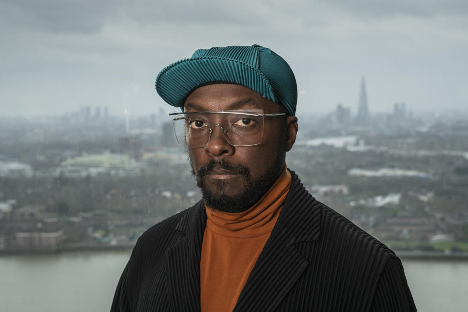 This image and the information contained herein is strictly embargoed until 00.01 Tuesday 5th October 2021From Twofourwill.i.am: The Blackprint on ITV and ITV Hub.Pictured: will.i.am.This photograph is (C) Twofour and can only be reproduced for editorial purposes directly in connection with the programme or event mentioned above, or ITV plc. Once made available by ITV plc Picture Desk, this photograph can be reproduced once only up until the transmission [TX] date and no reproduction fee will be charged. Any subsequent usage may incur a fee. This photograph must not be manipulated [excluding basic cropping] in a manner which alters the visual appearance of the person photographed deemed detrimental or inappropriate by ITV plc Picture Desk.  This photograph must not be syndicated to any other company, publication or website, or permanently archived, without the express written permission of ITV Picture Desk. Full Terms and conditions are available on the website www.itv.com/presscentre/itvpictures/termsFor further information please contact:james.hilder@itv.com / 0207 157 3052