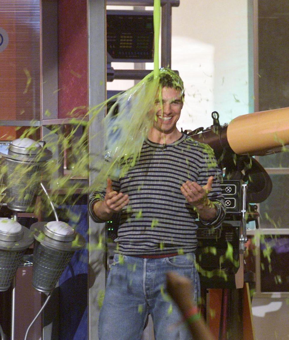 <p>Throwing it back to this retro Tom Cruise moment. No fuss, no cannons, no explosions, just a stream of slime straight to the top of his head.</p>