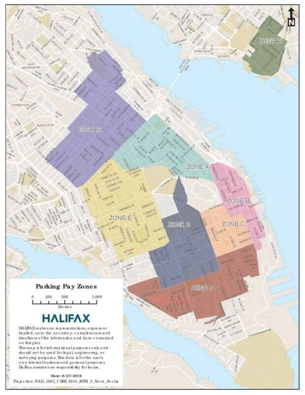 An additional commuter zone, not shown on this 2020 map, has been established in Dartmouth's Woodside neighbourhood.