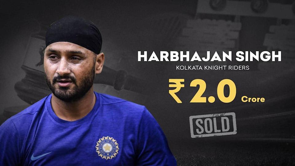 IPL Auction: Harbhajan Singh to feature for KKR