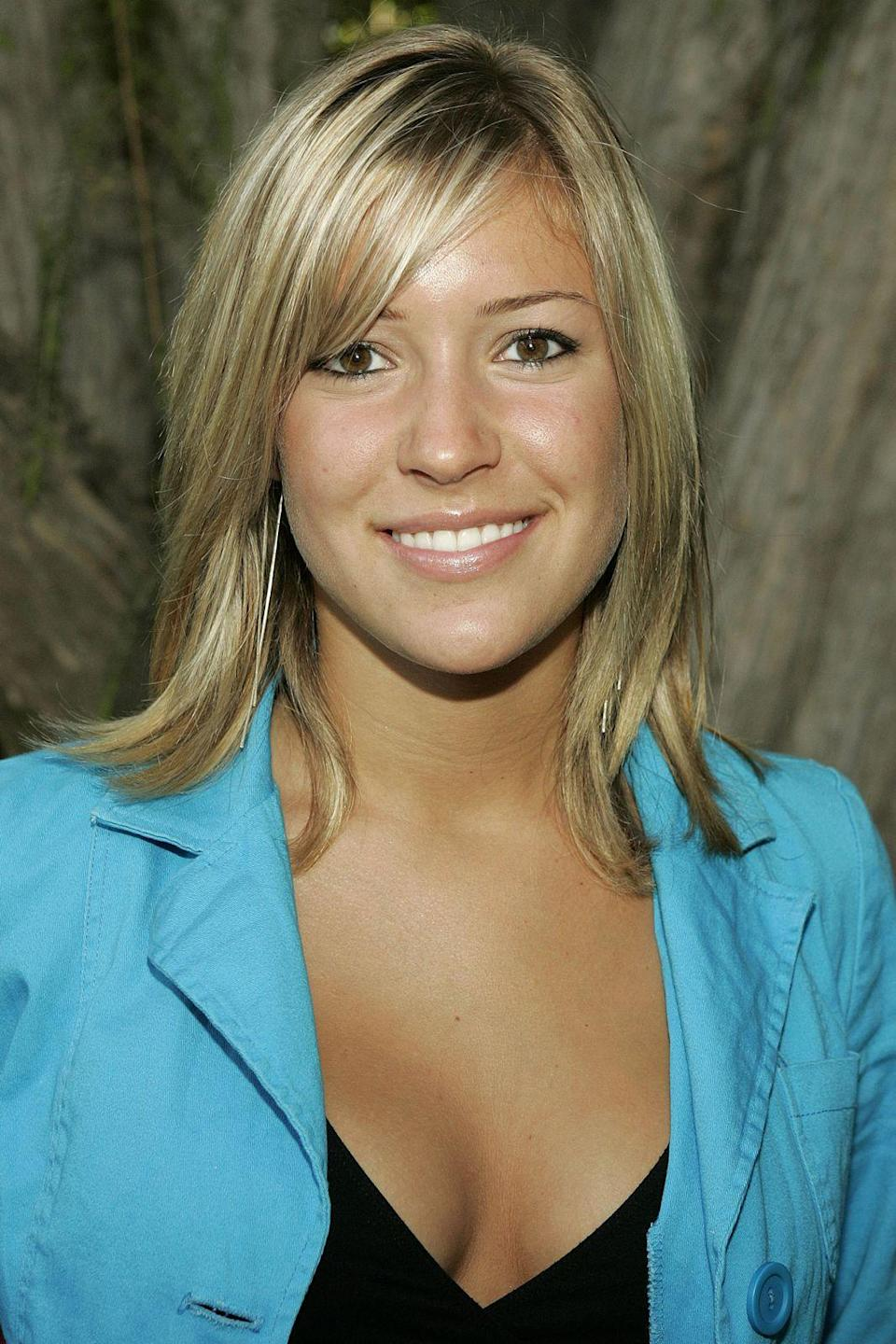 """<p><strong>MTV Laguna Beach Cast Portraits, 2002</strong></p><p>""""Oh God, what was I thinking here? I didn't know any better. This is one of the first photos I ever took before we started filming for <em>Laguna Beach</em>. I was 17, and I thought I looked really good. My eyebrows are so thin. I look very puffy and bloated. And I thought my blue blazer was <em>everything</em>.""""</p><span class=""""copyright"""">Photo: Jason Merritt/FilmMagic.</span>"""